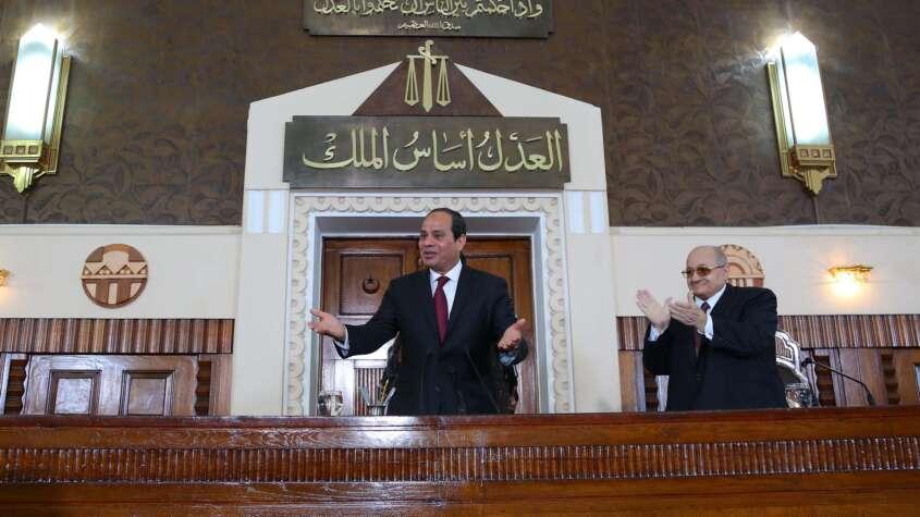 احتفال السيسي بيوم القضاء المصري.. مضامين ودلالات